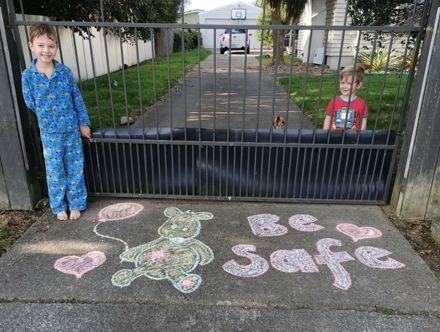 Chalk art - lockdown 2020