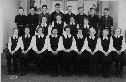 Foxton School, Secondary Class 6 (?), 1952