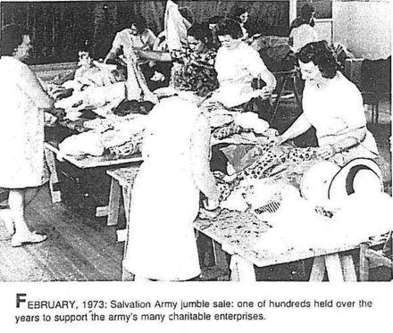 Salvation Army jumble sale - Feb 1973