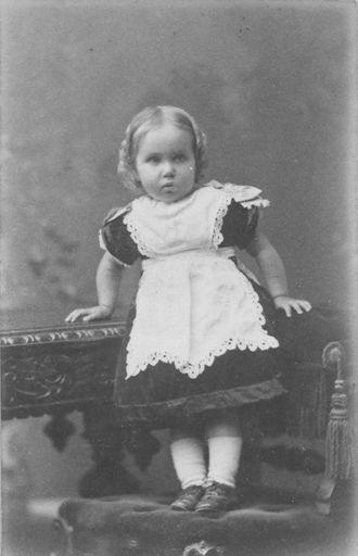 Ella Knight (as toddler), 1886-87