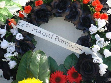 Wreath from the 28th Maori Battalion