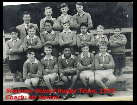Shannon School Rugby Team, 1957.