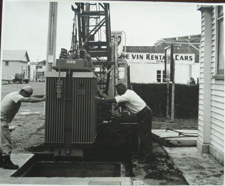 Installing an underground transformer, Oxford St. (north)