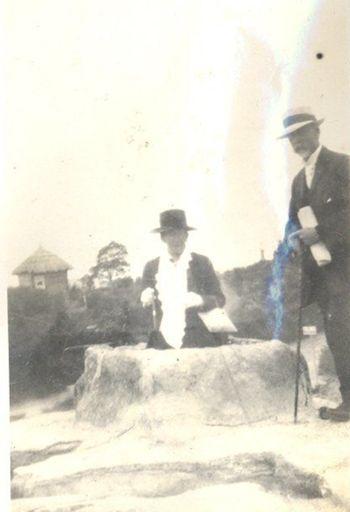Man and woman at thermal area Rotorua