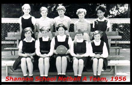 Shannon School Netball A Team, 1956.