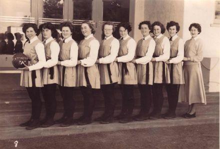 """Foxton School, """"A"""" Netball Team, 1952?"""