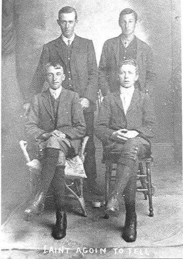 Four Unidentified men