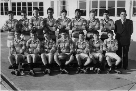 Foxton District High School Ist XV Rugby Team 1959