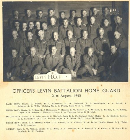 Officers Levin Battalion Home Guard, 1943