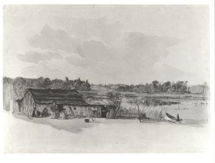Kainga at Lake Papaitonga (c.1860)