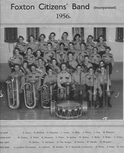 Foxton Citizens' Band 1956