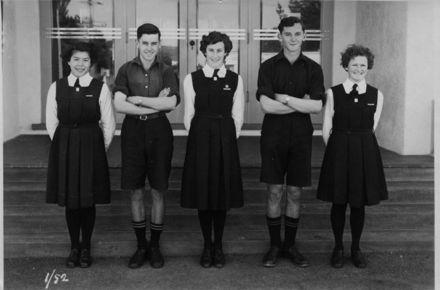 Foxton School, Secondary Prefects, 1952