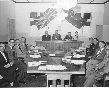 Foxton Borough Council, 1958