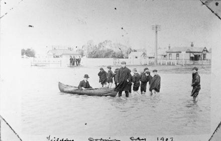 Feilding Flood, c. 1907