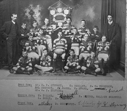 Lytton St School rugby team 1912