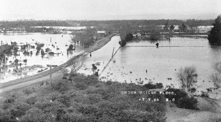 Oroua Bridge Flood 1896