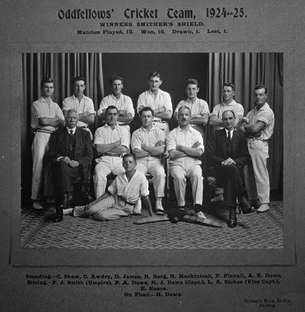 Oddfellows' Cricket Team, c. 1924-25
