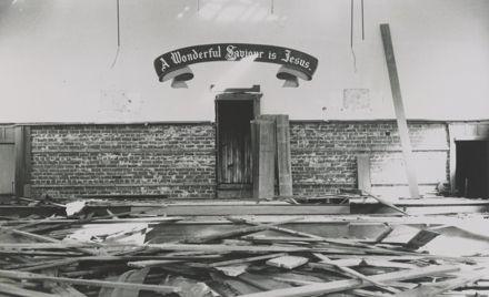 Demolition of citadel, Manchester St, 1976