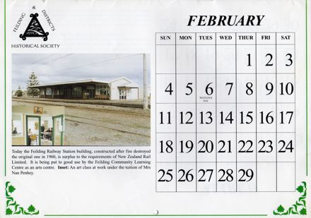 Page 5: Feilding Then and Now Calendar