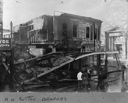 A.H.Sutton drapery fire