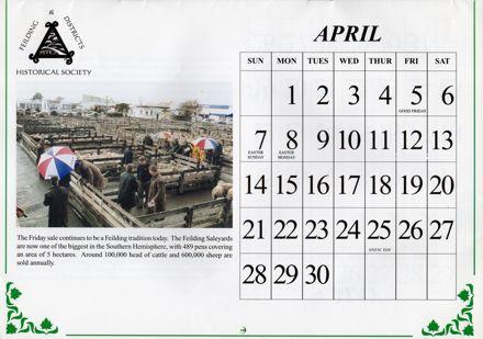 Feilding Then and Now Calendar
