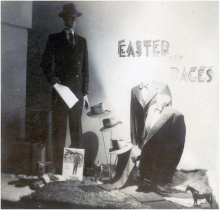 Cobbes' of Feilding display & advertising work by Peter Pitman