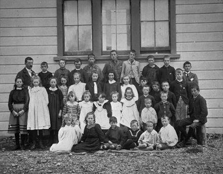 Waituna School, c. 1900