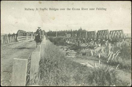 Railway and Traffic Bridges over the Orona River near Feilding