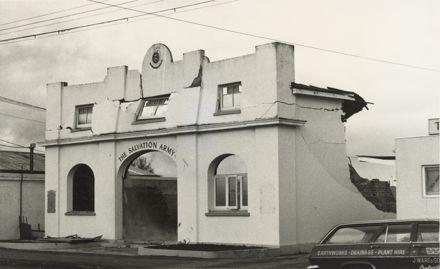 Demolition of citadel, Manchester St, 1976-1977