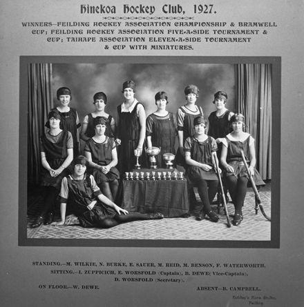 Hinekoa Hockey Club, c. 1927