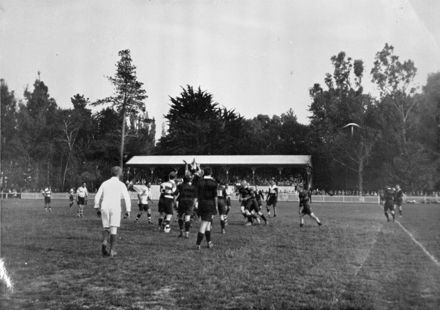 Rugby match in Johnston Park 1928