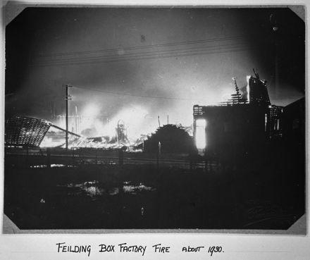 Feilding box factory fire - 1939