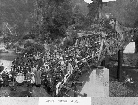 Apiti bridge opening 1896