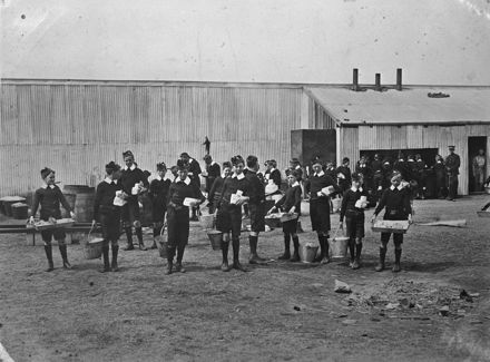 Cadet Corps at Christchurch exhibition