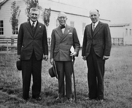 L.J.Wild, Lord Bledisloe and R.McKinnon