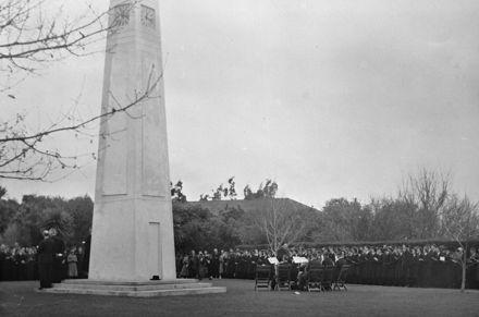 Dedication of Memorial Clocktower, Feilding Agricultural High School