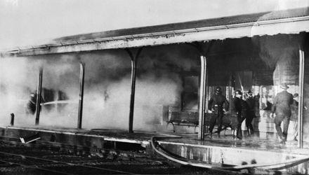 Railway Station fire - 1960