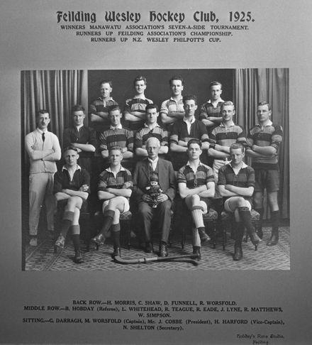 Feilding Wesley Hockey Club, c. 1925