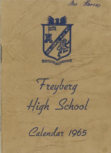 Freyberg High School Calendar, 1965