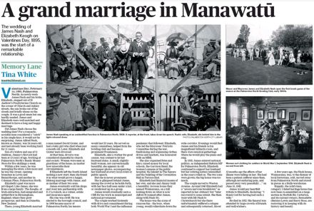 "Memory Lane - ""A grand marriage in Manawatū"""