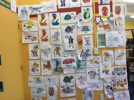 Children's Artwork at Awapuni Library