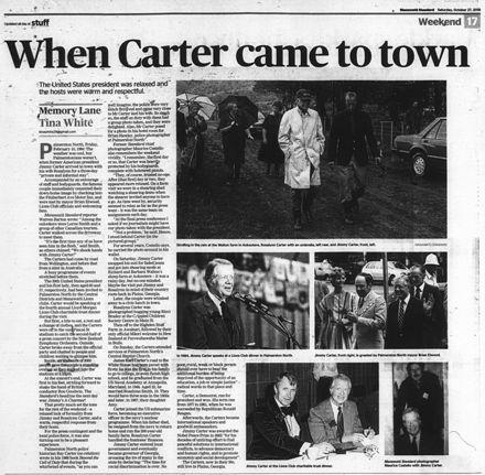 "Memory Lane - ""When Carter came to town"""