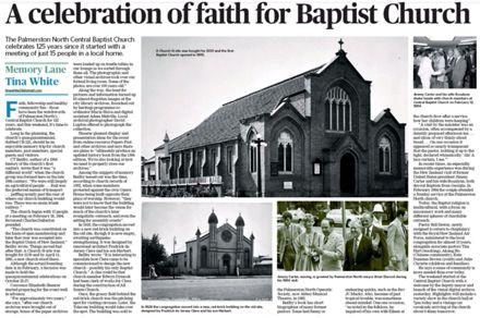 "Memory Lane - ""A celebration of faith for Baptist Church"""