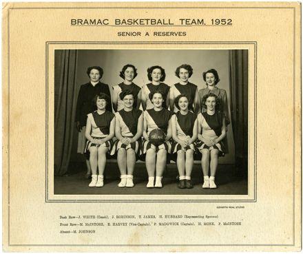 Bramac Basketball (Netball) Team, 1952