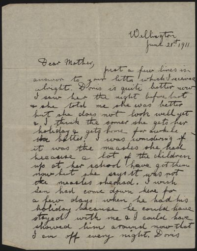 Letter home from Pat Argyle